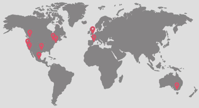 world map fulfillment locations
