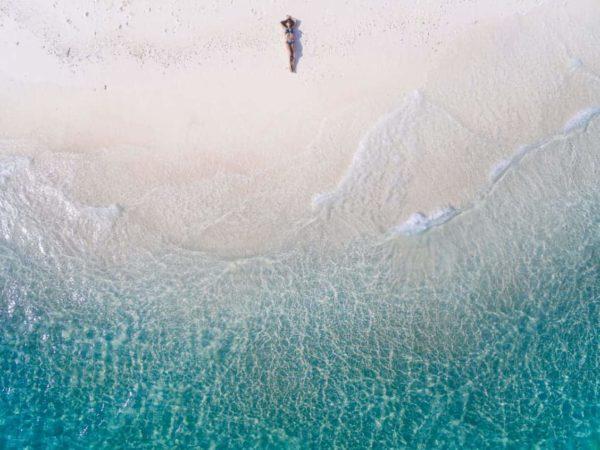 Aerial View Beach Shoreline 1