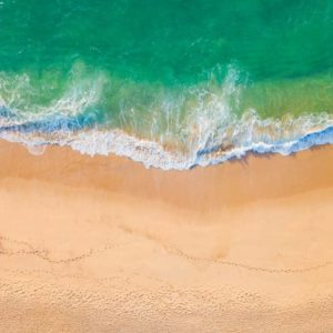 Aerial View Beach Shoreline 11