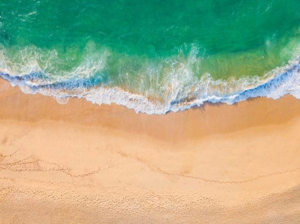 Aerial View Beach Shoreline 11