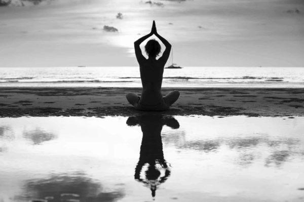 Mirror Pose Beach Yoga