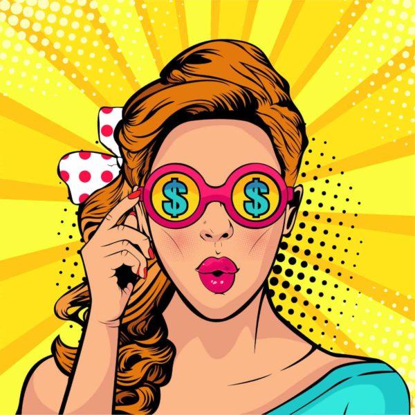 Pop Art Money Glasses 1