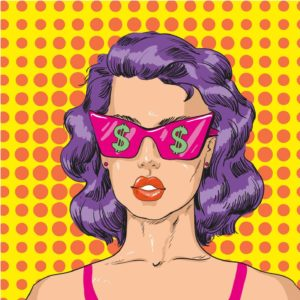 Pop Art Money Glasses 2