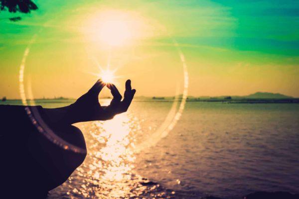 Silhouette Meditation Sunset