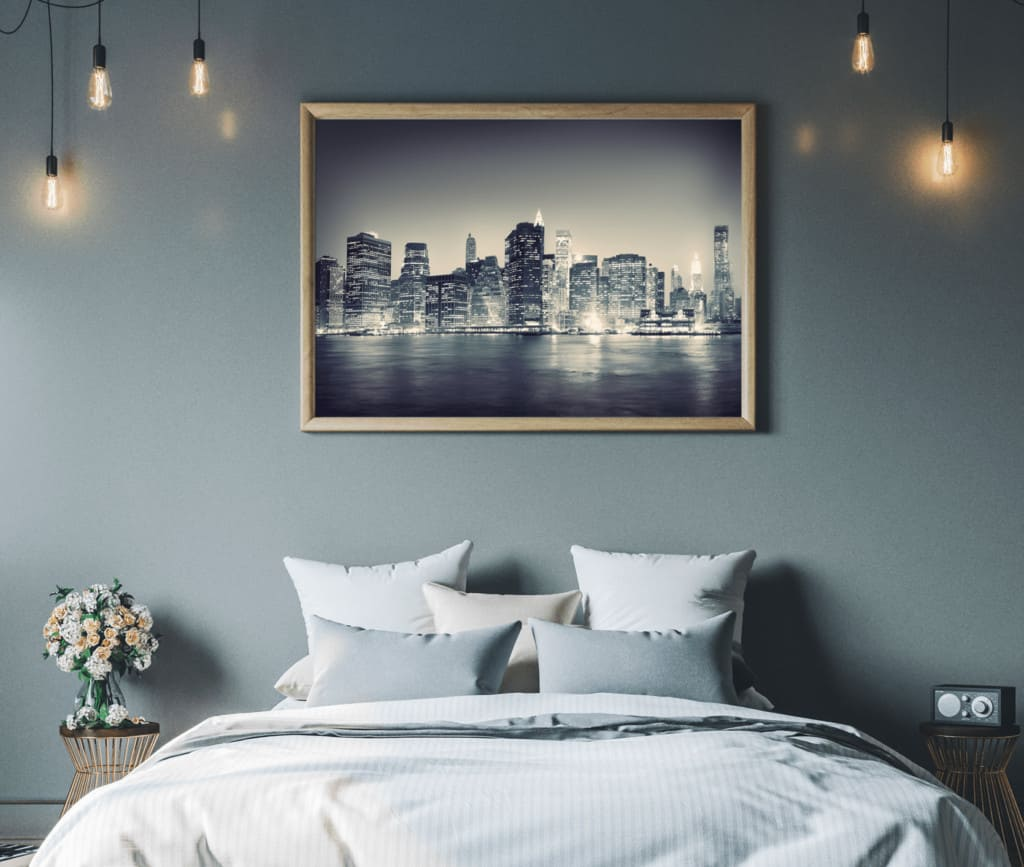 Bedroom Wall Art Canvas and Framed Prints