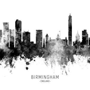 Birmingham England Skyline unique digital wall art canvas framed prints