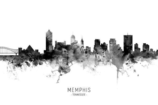 Memphis Tennessee Skyline unique digital wall art canvas framed prints