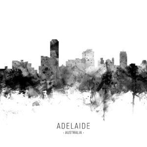Adelaide Australia Skyline unique digital wall art canvas framed prints