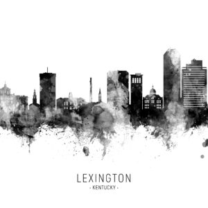 Lexington Kentucky Skyline unique digital wall art canvas framed prints