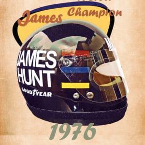 1976 hunt retro digital canvas artwork prints