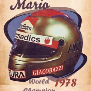 1978 mario andretti digital canvas artwork prints