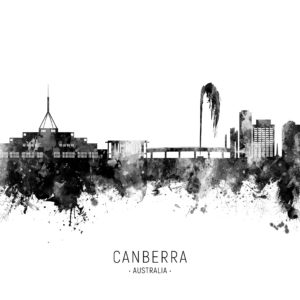 Canberra Australia Skyline unique digital wall art canvas framed prints