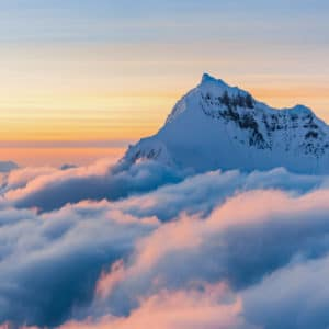 Above the Clouds landscape photography canvas and framed wall art