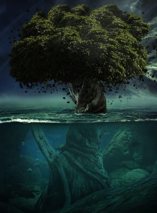Alone in Depth surreal digital wall art prints