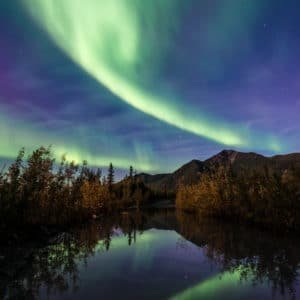 Aurora Reflections landscape photography canvas and framed wall art