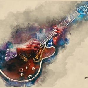 BB King's Electric Guitar digital canvas artwork prints