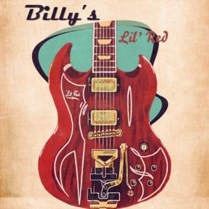 Billy Gibbons's guitar retro digital canvas artwork prints