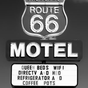Historic Route 66 Motel landscape photography canvas and framed wall art