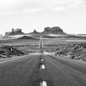 Monument Valley Road landscape photography canvas and framed wall art