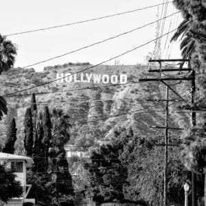 Hollywood Sign landscape photography canvas and framed wall art