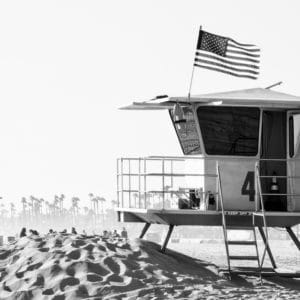 Lifeguard Towers landscape photography canvas and framed wall art
