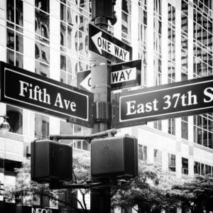 Fifth Avenue Sign landscape photography canvas and framed wall art