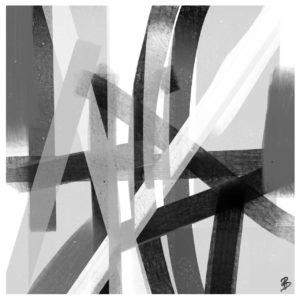 Black and White 2 abstract framed wall art