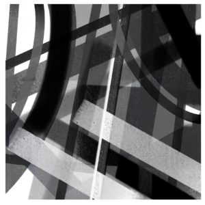 Black and white 3 abstract framed wall art
