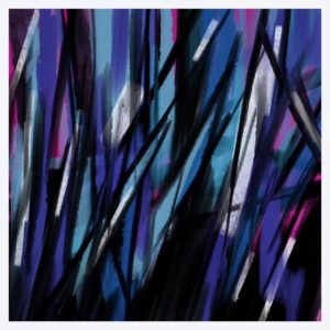 Blue Lines abstract framed wall art