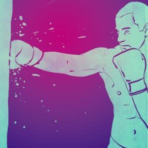 Boxing 5 digital comic illustration wall art canvas framed prints