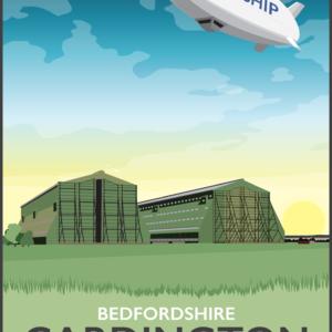 Cardington Airfield, Bedfordshire rustic digital canvas wall art print