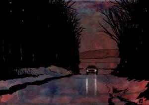 Cars 3 digital comic illustration wall art canvas framed prints
