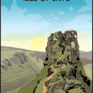 Castle Ewen, Isle of Skye rustic digital canvas wall art print