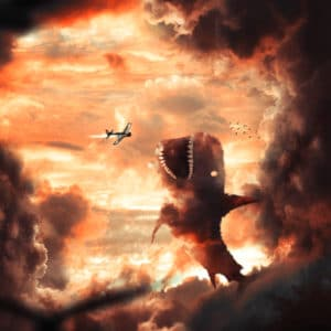 Cloud Shark surreal digital wall art prints