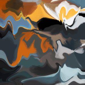 Dawn abstract framed wall art