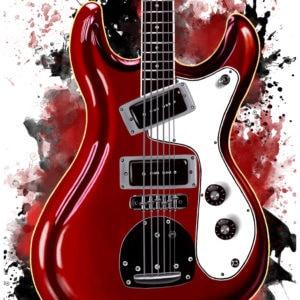 Don Wilson's electric guitar digital canvas artwork prints