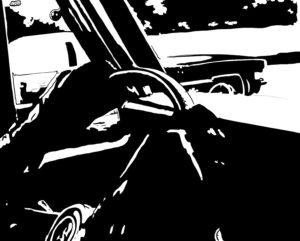 Drive 2 digital comic illustration wall art canvas framed prints
