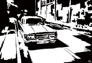 Drive 3 digital comic illustration wall art canvas framed prints