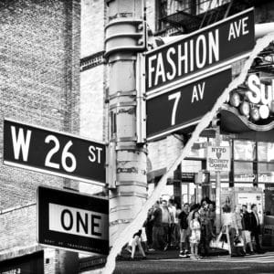 Fashion Ave landscape photography canvas and framed wall art