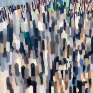 Dusk over New York abstract framed wall art