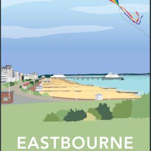Eastbourne rustic digital canvas wall art print