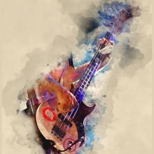 Flea's Bass digital canvas artwork prints