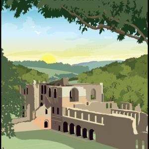 Furness Abbey, Cumbria rustic digital canvas wall art print