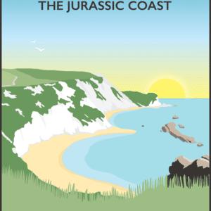 Isle of Purbeck, Dorset rustic digital canvas wall art print