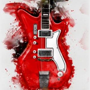 Jack White's electric guitar digital canvas artwork prints