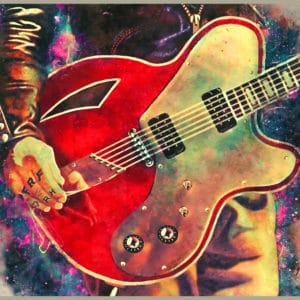 Josh Homme's electric guitar digital canvas artwork prints