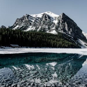 Lake Louise Reflection landscape photography canvas and framed wall art