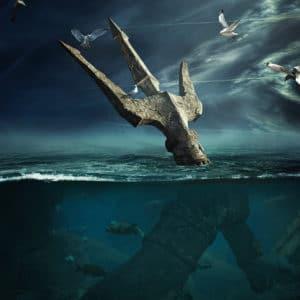 Last Hope - Poseidon surreal digital wall art prints