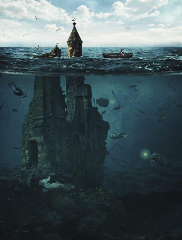 Lost City surreal digital wall art prints