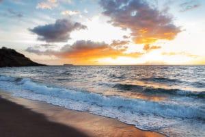 Maui Black Sand Beach landscape photography canvas and framed wall art